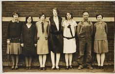 RESERVED for Kim, The Line Up1930, Real Photo Postcard,   Paper Ephemera, Art Images, Collectibles, Paper, Photography