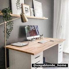 We believe that nothing is more inspiring than life at home. Check out our fan photos to get inspired by the beautiful possibilities. Office Organization At Work, Home Office Setup, Home Office Space, Home Office Design, Home Interior Design, Ikea Office, My New Room, Room Decor Bedroom, Cheap Home Decor