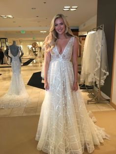 Stunning new #BERTA bride ❤️ From our trunk show at @saks Beverly Hills. She chose a different BERTA dress, so that's not the one