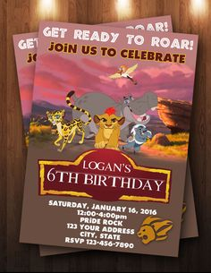 Lion Guard Lion King Digital Birthday by ThePurpleMonkeyShop