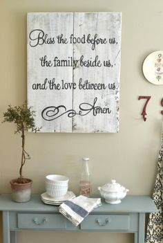 DINING ROOM this is an awesome prayer! when i got my own home, i'm going to do something like this and hang it up in my living room or dining room Bless The Food, Diy Casa, My Living Room, Home Projects, Diy Home Decor, Home Improvement, Sweet Home, Diy Crafts, Crafty