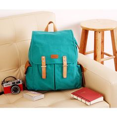 New Fashion Fresh Color Hipster Canvas Women's Backpack