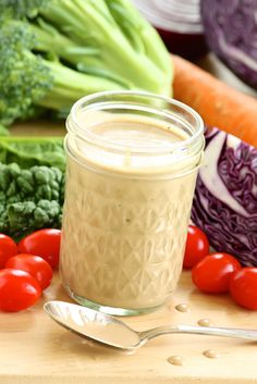 Healthier Creamy Balsamic Dressing -- makes the simplest of salads more satisfying