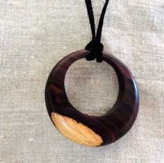 Cocobolo Wood Pendant Necklace  $24  #etsy