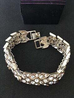 Stunning Jon Richard Heavy Gate Link Diamante Bracelet In Original Box | eBay Bracelet Clasps, Bracelets, Mixed Metals, Types Of Metal, Costume Jewelry, Gate, Im Not Perfect, Product Description, Jewellery