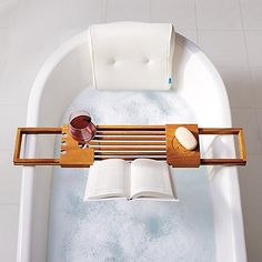 The Quick Dry Curved Spa Bath Pillow is made of AdaptivAir Mesh™, a soft woven material made of air and millions of tiny supportive fibers. You'll feel like you're floating on a cloud. Bathtub Tray, Bath Table, Bali, Gadget, Whirlpool Bathtub, Relaxing Bath, Bathroom Spa, Home Spa, Kitchens