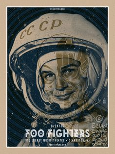 Foo Fighters Poster by Brian Ewing