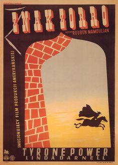 Eryk Lipiński, 194,7 Znak Zorro (The Mark of Zorro) Polish Moovie Poster