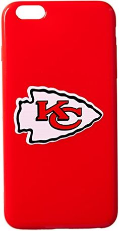 NFL Kansas City Chiefs TPU Solid Apple IPhone 6 Cover Red Large * Click on the image for additional details.
