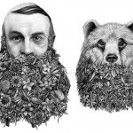 Surreal Graphite Drawings by 'Violaine. Violaine & Jeremy is a graphic design and illustration studio based in Paris formed by Violaine Orsoni and Jeremy Schneider. The duo collaborate on a wide range of projects including the design and layout of Influencia magazine, indentity projects, and album covers. Among their best work are these astounding graphite drawings of quirky animals adorned with beards of wildlife and other unexpected characters. You can see much more over on Behance.