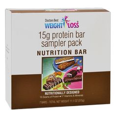 (7 bars per box) These deliciously crispy, aspartame-free protein diet bars boast 15 grams of protein, of which 12 or more are soy.They're great as a high protein diet snack or breakfast alternative. These high-protein diet bars are an important part of a healthy diet or weight management plan. Product...