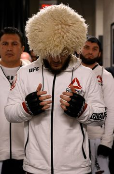 Khabib Nurmagomedov of Russia prepares to fight Al Iaquinta during the UFC 223 event inside Barclays Center on April 7 2018 in Brooklyn New York. (Photo by Mike Roach/Zuffa LLC/Zuffa LLC via Getty Images) Muay Thai Martial Arts, Mixed Martial Arts, Ufc Boxing, Boxing Workout, Boxing Posters, Ufc Fighters, Ultimate Fighting Championship, Conor Mcgregor, Sports Pictures