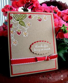 by Kendra Wietstock.  Stamps by Gourmet Rubber Stamps ~ Strawberry Sweet.  http://kendrawietstock.blogspot.com