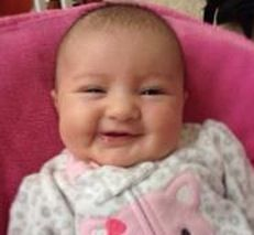 A beautiful smile on Adrianna's face!  Love it!