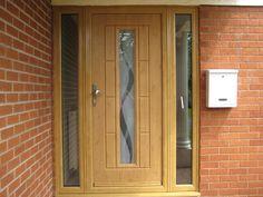 Get in touch with us today to find out more about our range of doors Oak Front Door, Front Doors With Windows, House Front Door, Modern Exterior Doors, Exterior Design, Contemporary Front Doors, Porch Doors, Oak Doors, Window Frames