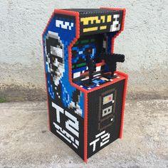 Custom Terminator Arcade Cabinet by pappasparlor