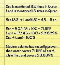 Quran and Science. I'm proud of Islam Islamic Quotes, Islamic Teachings, Islamic Inspirational Quotes, Islamic Messages, Islamic Dua, Religious Quotes, Inspiring Quotes, Allah Islam, Islam Muslim