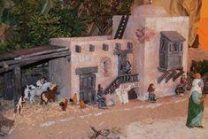 MANUALIDADES Y NAVIDAD: Casas tipo hebreo para belenes Christmas Villages, Portal, Painting, Miniature Houses, Painting Art, Paintings, Painted Canvas, Drawings