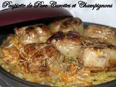 Paupiette de porc carottes et champignons