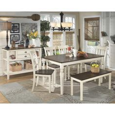 Signature Design by Ashley Whitesburg Dining Table & Reviews | Wayfair