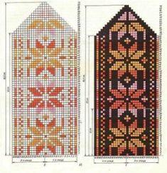 Baby Hats Knitting, Fair Isle Knitting, Knitting Charts, Knitting Stitches, Knitting Designs, Knitting Socks, Knitting Patterns, Crochet Mittens Free Pattern, Knit Mittens