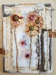 """Mixed Media Collage """"Spring Dance"""" by JoAnna Pierotti"""