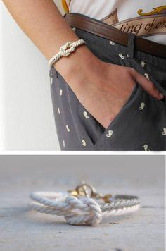 Infinity knot bracelet https://www.etsy.com/listing/220372717/spring-bracelet-friendship-white-cord