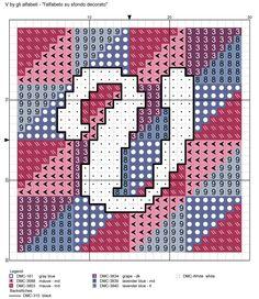 alfabeto su sfondo decorato V