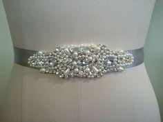 Wedding Bridal Sash Belt Bridesmaids Crystal Rhinestone Pearl Beaded Sash Belt on Etsy, $25.50