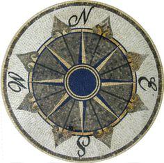 ancient nautical theme kitchen   Mosaics - Mosaic Medallions - Nautical - MD814