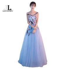 >> Click to Buy << LOVONEY 2017 New Embroidery Evening Dress Long Sexy Backless Lace-Up Formal Party Dresses Evening Gown Robe de Soiree YLF811 #Affiliate