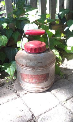 Vintage Picnic Jug Cooler Thermos Camping by grasshoppercafe, $22.50