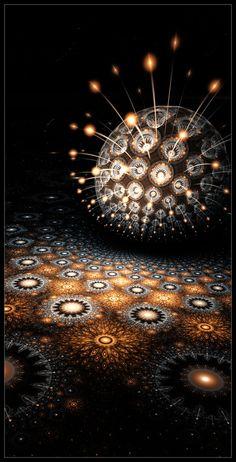 Lindelokse: fractal illustrator | 3D Apophysis Flames 2 via PinCG.com