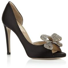 Valentino Couture Crystal Peep Toe Pump