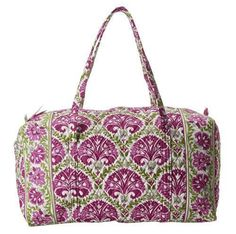 Vera Bradley Large Duffel in Julep Tulip, Weekender, Travel Bag #VeraBradley