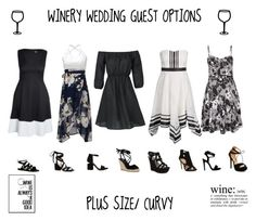 """PLUS SIZE/ CURVY WINERY WEDDING GUEST"" by jessicasanderstx ❤ liked on Polyvore featuring Boohoo, Alexander Wang, Kenneth Cole, winerywedding and vineyardwedding"