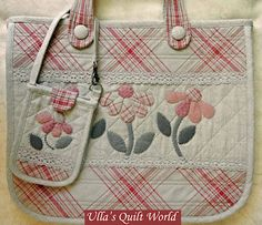 Ulla's Quilt World: Quilt bag - Japanese patchwork.  No pattern but pictures of different parts.