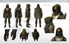 Dress Up as Your Favorite Guardian With This Handy Destiny Cosplay Guide - Character Sheet, Character Modeling, Character Concept, Character Art, Concept Art, Character Design, Character Aesthetic, Destiny Hunter, Destiny Cosplay