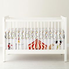 The Land of Nod | Baby Bedding: Circus Themed Crib Bedding in Love Mae