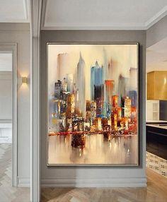 Large Original Abstract City Painting, Urban Art Painting, City Skyline Painting,New York Skyline,Ne Skyline Painting, Cityscape Art, City Painting, Oil Painting Abstract, Abstract Canvas, Oil Paintings, Skyline Art, Painting Canvas, Art Mural