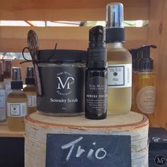 This Skin Trio includes Serenity Scrub face scrub and mask, Neroli Nectar Face Serum and Ménage à Tonic toner/make up remover
