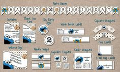 Cookie Monster Birthday Party Package | PerfectFavors - Digital Art  on ArtFire