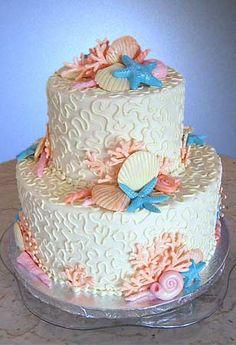 Sea Shells Wedding Cake
