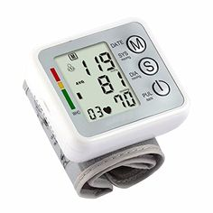 Fund Wrist Digital Blood Pressure Monitor with 99 Memory Capacity Two User Modes for Systolic Irregular Pulse and Heart Rates White >>> Check out the image by visiting the link. (Amazon affiliate link)