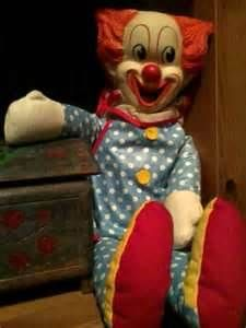 Bozo the Clown Doll  I slept with mine for years. Dressed it my clothes and still have it in the top of my closet.