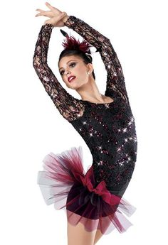 Hot dance acro ballet student pink professional costumes