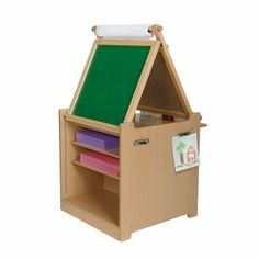 Guidecraft Children's Desk to Easel Art Cart by Guidecraft. $130.85. bins included. paper roll included. write on/wipe off easel surface. easy to clean laminate surface. versatile. The Desk to Easel Art Cart is a versatile unit that can be positioned as an upright, angled easel or a folded down, flat workspace. Plenty of storage space including fabric bins, paper cubbies, and a paint/glue bottle area allows young artists to stay organized while creating. Includes paper roll...