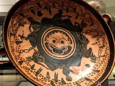 Medusa on a kylix from the Ashmolean Museum. Sat 2 July 2016