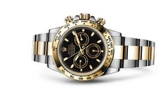 Rolex Cosmograph Daytona Watch: Yellow Rolesor - combination of steel and 18 ct yellow gold - 116523 Rolex Oyster Perpetual, Oyster Perpetual Cosmograph Daytona, Rolex Cosmograph Daytona, Rolex Daytona Gold, Rolex Watches, Watches For Men, Wrist Watches, Daytona Watch, Rolex Air King