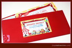 Circus Party address labels